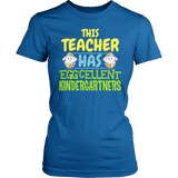Kindergarten - Eggcellent - District Made Womens Shirt / Royal / S - 1