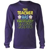 Second Grade - Eggcellent - District Long Sleeve / Purple / S - 10