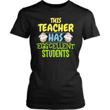 Teacher - Eggcellent - District Made Womens Shirt / Black / S - 4