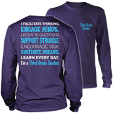Third Grade - Engage Minds - District Long Sleeve / Purple / S - 11
