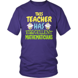 Math - Eggcellent - District Unisex Shirt / Purple / S - 6