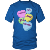 Counselor - Candy Hearts - District Unisex Shirt / Royal Blue / S - 7