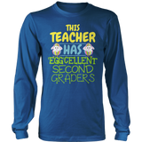 Second Grade - Eggcellent - District Long Sleeve / Royal Blue / S - 9