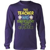 Third Grade - Eggcellent - District Long Sleeve / Purple / S - 10
