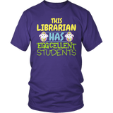 Librarian - Eggcellent - District Unisex Shirt / Purple / S - 6