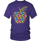 Teacher - Easter Apple - District Unisex Shirt / Purple / S - 8