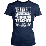 Third Grade - Thankful - District Made Womens Shirt / Navy / S - 5