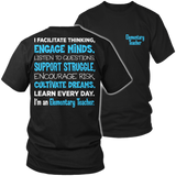 Elementary - Engage Minds - District Unisex Shirt / Black / S - 6