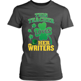 English - St. Patrick's Writers - District Made Womens Shirt / Charcoal / S - 7