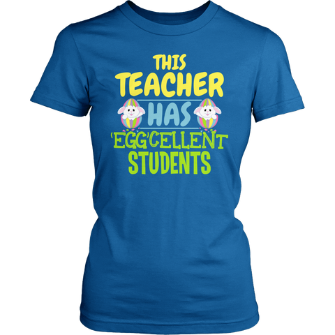 Special Education - Eggcellent Students - District Made Womens Shirt / Royal / S - 1