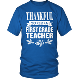 First Grade - Thankful - District Unisex Shirt / Royal Blue / S - 11