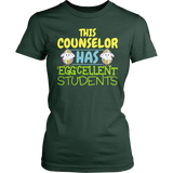 Counselor - Eggcellent Students - District Made Womens Shirt / Forest Green / S - 3