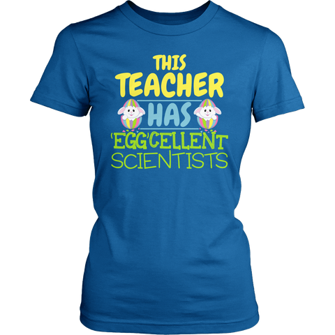 Science - Eggcellent - District Made Womens Shirt / Royal / S - 1