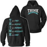 Teacher - THINK - Hoodie / Black / S - 12