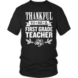First Grade - Thankful - District Unisex Shirt / Black / S - 9