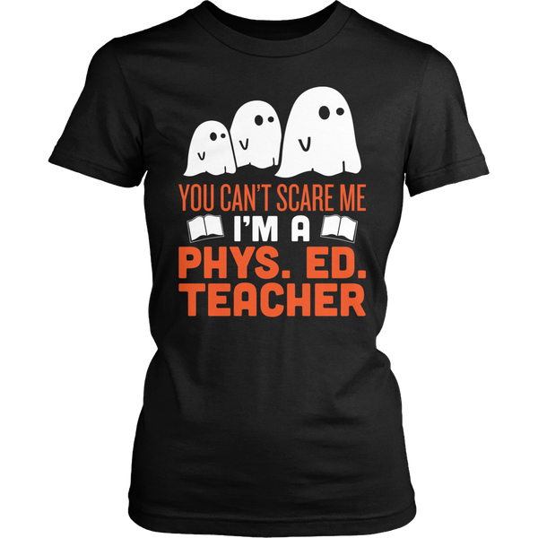 Phys Ed - Ghosts - District Made Womens Shirt / Black / S - 1