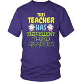 Third Grade - Eggcellent - District Unisex Shirt / Purple / S - 6