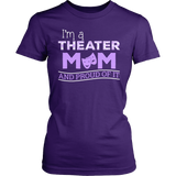 Theater - Proud Mom - District Made Womens Shirt / Purple / S - 3