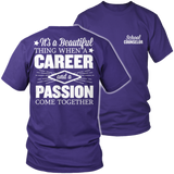 Counselor - Beautiful Thing - District Unisex Shirt / Purple / S - 7
