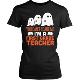 First Grade - Ghosts - District Made Womens Shirt / Black / S - 1