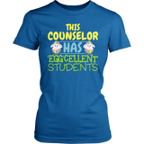 Counselor - Eggcellent Students - District Made Womens Shirt / Royal / S - 1