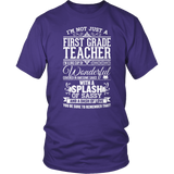 First Grade - Big Cup - District Unisex Shirt / Purple / S - 7