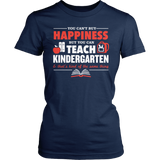 Kindergarten - Happiness - District Made Womens Shirt / Navy / S - 5