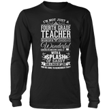 Fourth Grade - Big Cup - District Long Sleeve / Black / S - 9
