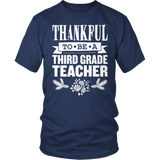 Third Grade - Thankful - District Unisex Shirt / Navy / S - 8
