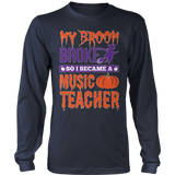 Music - My Broom Broke - District Long Sleeve / Navy / S - 8