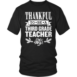 Third Grade - Thankful - District Unisex Shirt / Black / S - 9