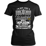 School Bus Driver - Big Cup - District Made Womens Shirt / Black / S - 2