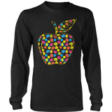 Teacher - Easter Apple - District Long Sleeve / Black / S - 9