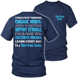 Third Grade - Engage Minds - District Unisex Shirt / Navy / S - 5