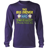 School Bus Driver - Eggcellent - District Long Sleeve / Purple / S - 10