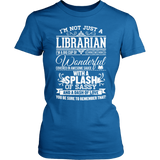 Librarian - Big Cup - District Made Womens Shirt / Royal / S - 4