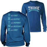 Teacher - THINK - District Long Sleeve / Royal Blue / S - 1