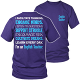 English - Engage Minds - District Unisex Shirt / Purple / S - 7