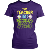 Second Grade - Eggcellent - District Made Womens Shirt / Purple / S - 2