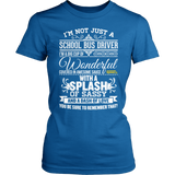 School Bus Driver - Big Cup - District Made Womens Shirt / Royal / S - 4