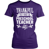 Preschool - Thankful - District Made Womens Shirt / Purple / S - 4