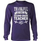 Second Grade - Thankful - District Long Sleeve / Purple / S - 3