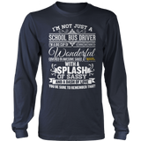 School Bus Driver - Big Cup - District Long Sleeve / Navy / S - 10