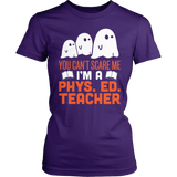 Phys Ed - Ghosts - District Made Womens Shirt / Purple / S - 3