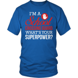 Crossing Guard - Superpower - District Unisex Shirt / Royal Blue / S - 4