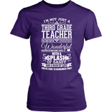 Third Grade - Big Cup - District Made Womens Shirt / Purple / S - 3