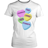 Counselor - Candy Hearts - District Made Womens Shirt / White / S - 6
