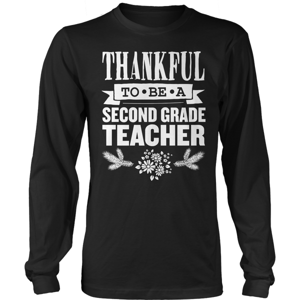Second Grade - Thankful - District Long Sleeve / Black / S - 1