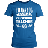Preschool - Thankful - District Made Womens Shirt / Royal / S - 7