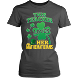 Math - St. Patrick's Mathematicians - District Made Womens Shirt / Charcoal / S - 7